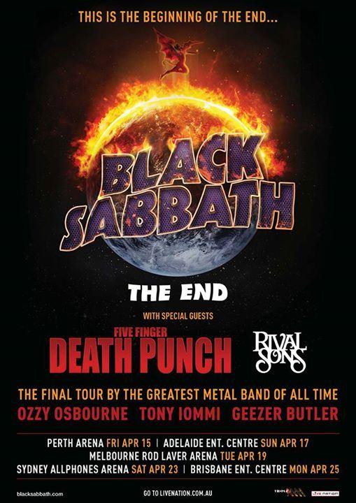 Black sabbath tour dates in Sydney