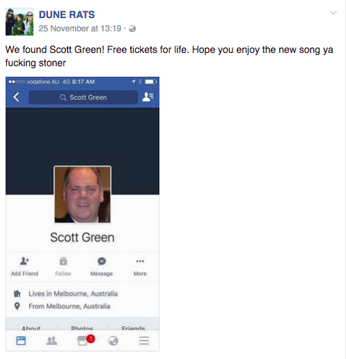 Dune Rats Scott Green found 1