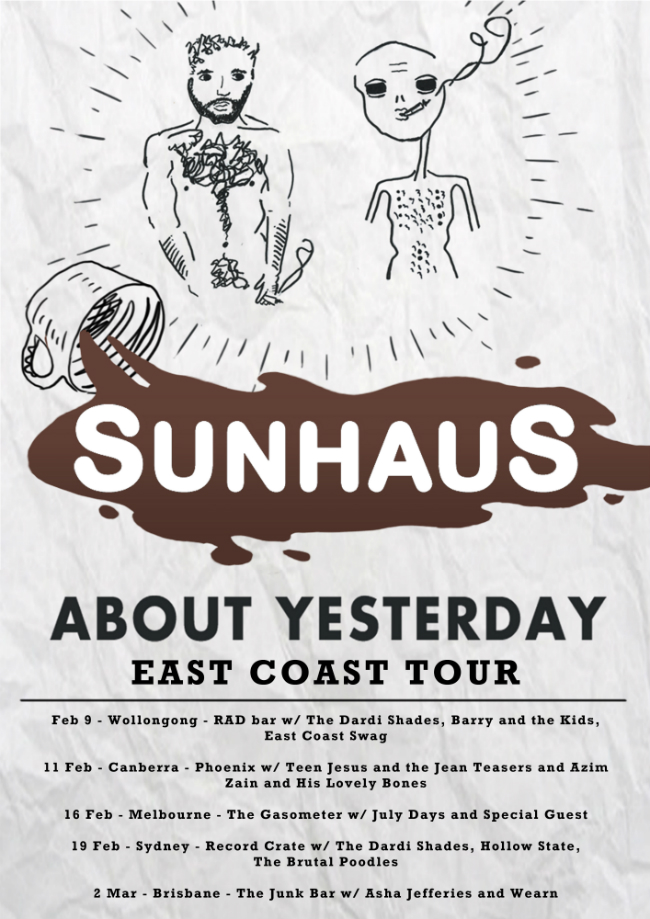 Sunhaus About Yesterday EP Tour Poster