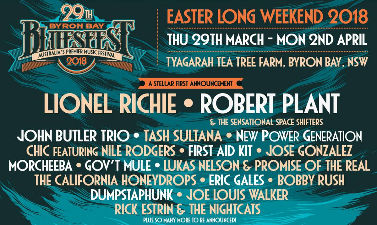 byron bay bluesfest 2018 starts strong with first lineup. Black Bedroom Furniture Sets. Home Design Ideas