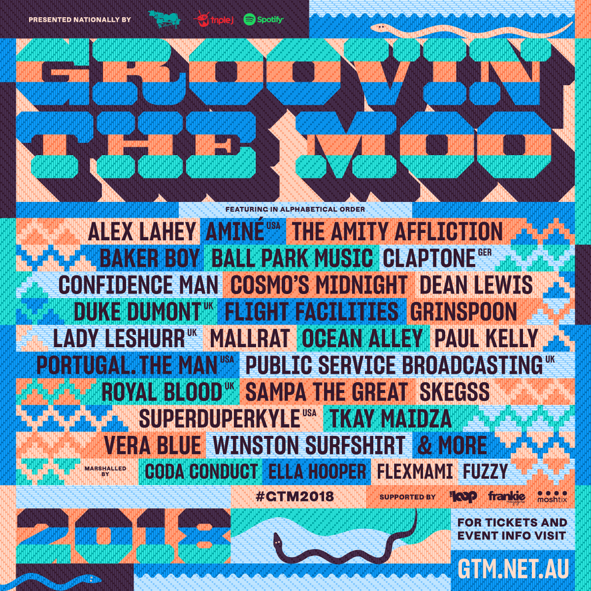 Groovin The Moo Drops 2018 Lineup |