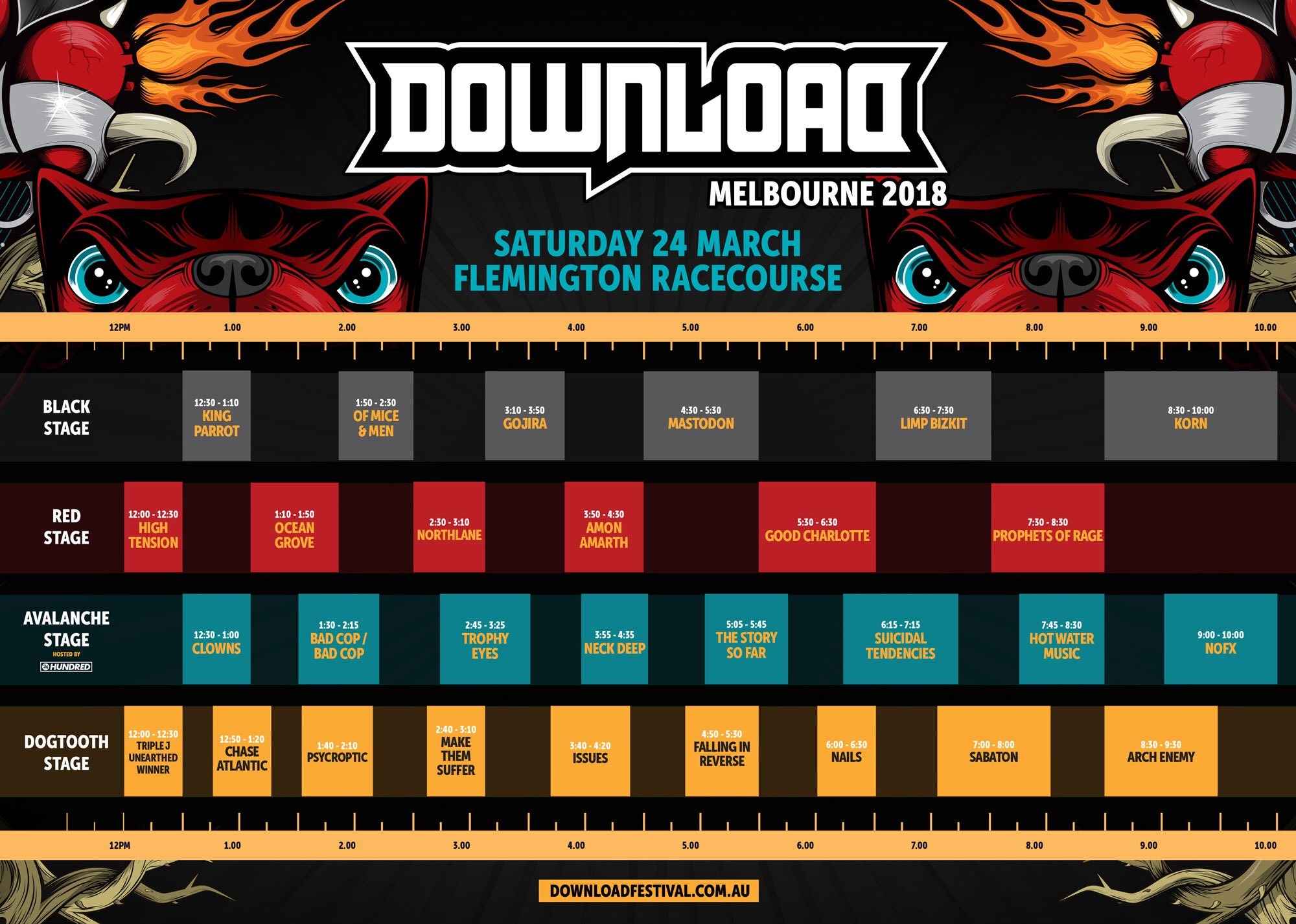 Download Festival set times